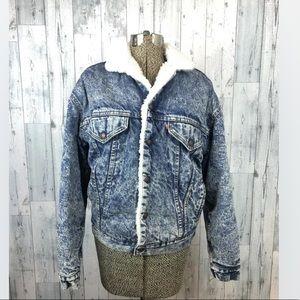 Vintage Levi's size xl denim jacket Sherpa lined